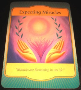 self-care, oracle cards, gateway messages, expecting miracles