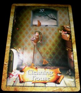 cleaning house, oracle cards, enchanted map oracle cards, colette baron-reid