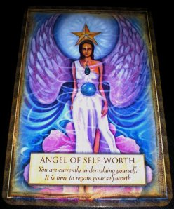 angel messages, personal strength, self-worth, oracle cards