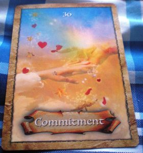 oracle cards, commitment messages