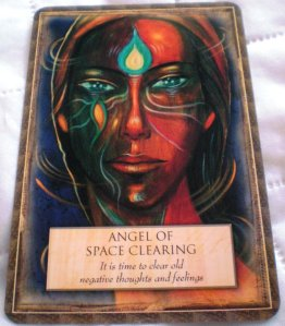 oracle cards, space clearing