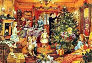 victorian family yule