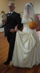 wedding dogs and pumpkins